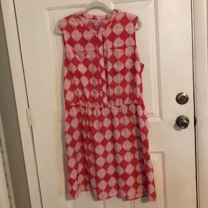 Print Dress with Pockets